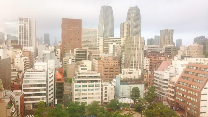 アパホテルの部屋からの眺め