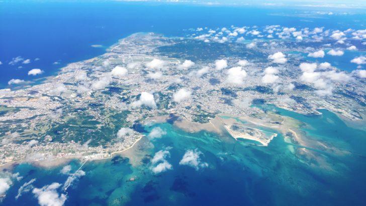 沖縄近辺上空
