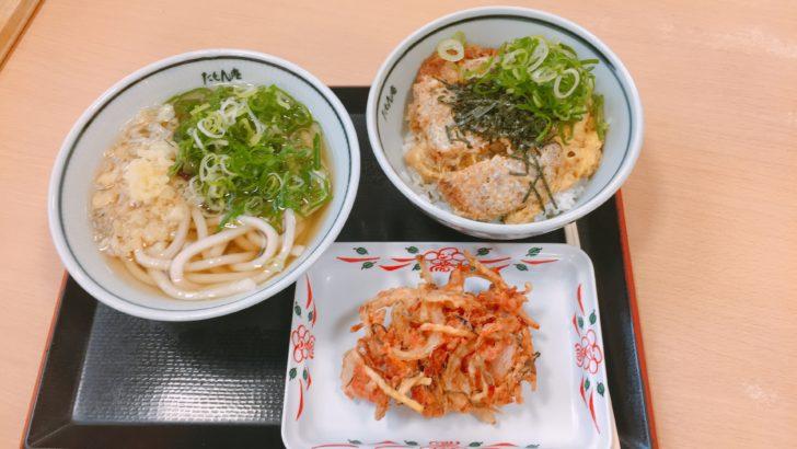 神戸空港で食べたうどんとかつ丼