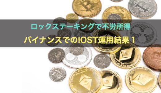 ロックステーキングで不労所得を獲得!仮想通貨取引所BINANCE(バイナンス)でIOSTの運用結果その1