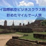 タイ国際航空ビジネスクラス搭乗記。貯めたマイルで一人旅。